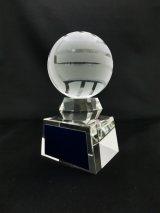 ボール直径60mm! バレーボール専用 クリスタルトロフィー/ SB-1