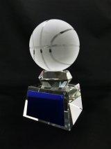 ボール直径60mm! バスケットボール・ミニバス専用クリスタルトロフィー/SB-1