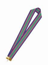 表彰メダル用 首掛けりぼん 【幅38mm】 4色(緑・白・赤・青)