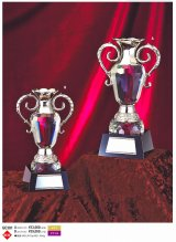 ガラスと金属の優勝カップ GC301