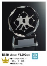 野球 クリスタルトロフィー B529