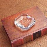 クリスタルペーパーウエイト/オクダゴン(八角形) DW-24 /  【サンドブラスト彫刻】または【UV印刷】