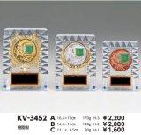 透明アクリル製 楯/盾  女神 アルミエポマーク付 KV-3452