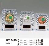 透明アクリル製 楯/盾  女神 アルミエポマーク付 KV-3453