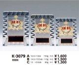 透明アクリル製 盾 王冠 K-3079