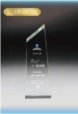 クリスタルトロフィー CR-23 / 【サンドブラスト彫刻】 または 【UVカラー印刷】