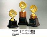 野球/ソフトボール 金属製グローブ トロフィー B-2078 【文字代無料】