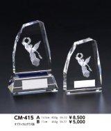 3Dデザイン女神 クリスタルトロフィー CM-415