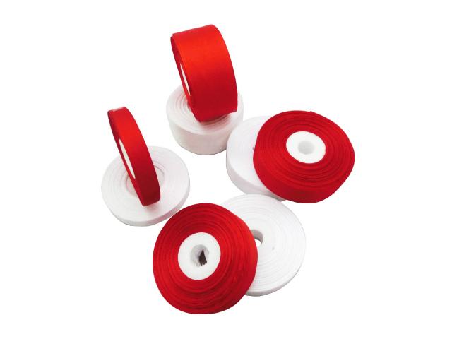 画像1: 装飾用 紅白リボン (30M巻・ロール)