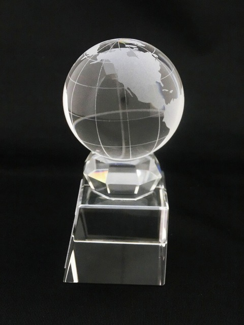 画像2: ボール直径60mm! 地球儀 クリスタルトロフィー/SB-1