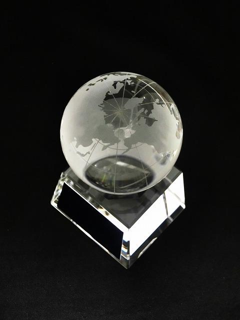 画像3: ボール直径60mm! 地球儀 クリスタルトロフィー/SB-1